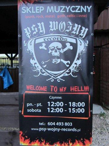 Baner sklepu Psy Wojny Records