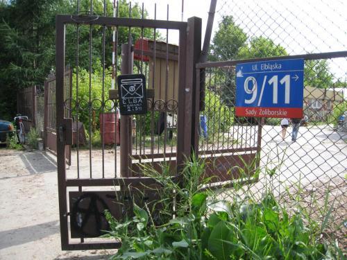 wejście na skłot Elba / entrance to Elba squat
