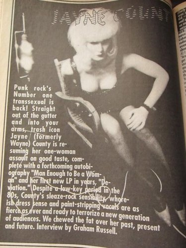 Jayne County in MRR