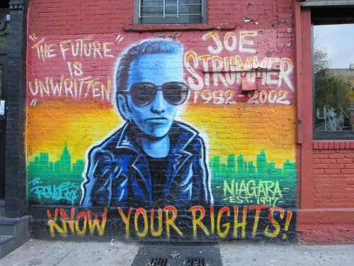 Know Your Rights Joe Strummer mural in Tompkins Square Park